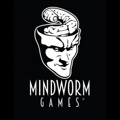 Mindworm Games Logo - OnBlack2 Square