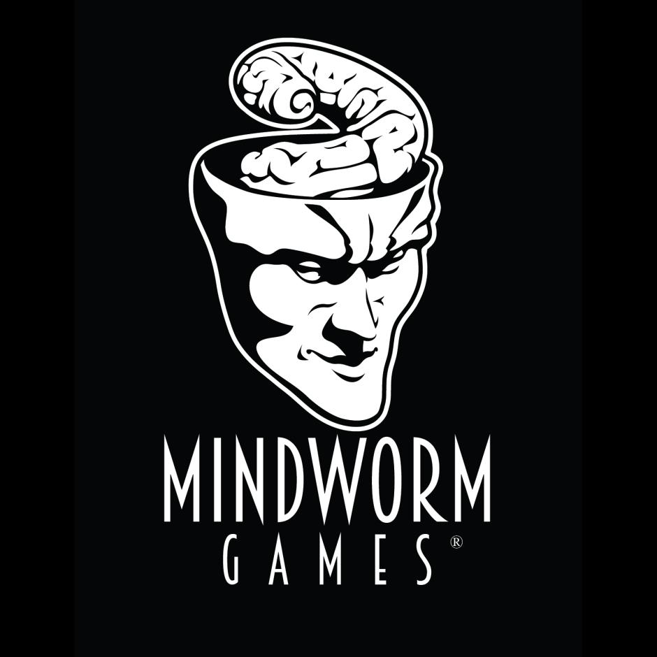 Mindworm Games Logo - OnBlack2 Square