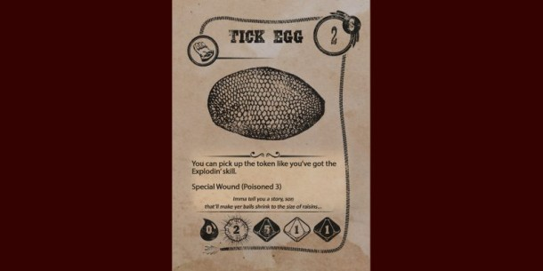 Tick Egg Card for Forum Post